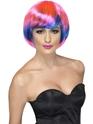 Perruque Glamour Ladies Perruque Babe Funky rose et bleu