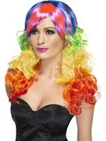 Arc-en-ciel Curl perruque Perruque Glamour Ladies