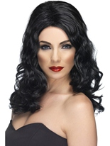Perruque glamour noir Perruque Glamour Ladies