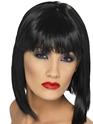 Perruque Glamour Ladies Perruque courte noire de Glam