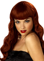 Pin Up Girl rouge perruque Perruque Glamour Ladies