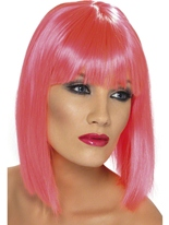 Perruque Glam rose néon Perruque Glamour Ladies
