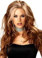 Séductrice rougeâtre perruque Blonde Perruque Glamour Ladies
