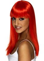 Perruque Glamourama rouge vif Perruque Glamour Ladies