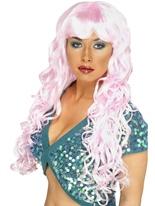 Sirène bouclés Perruque rose Perruque Glamour Ladies