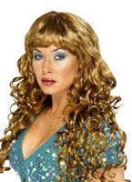Brown perruque de sirène frisée Perruque Glamour Ladies