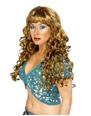 Perruque Glamour Ladies Brown perruque de sirène frisée