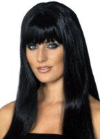Mystique perruque noir Perruque Glamour Ladies