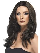 Superstar perruque brun foncé Perruque Glamour Ladies