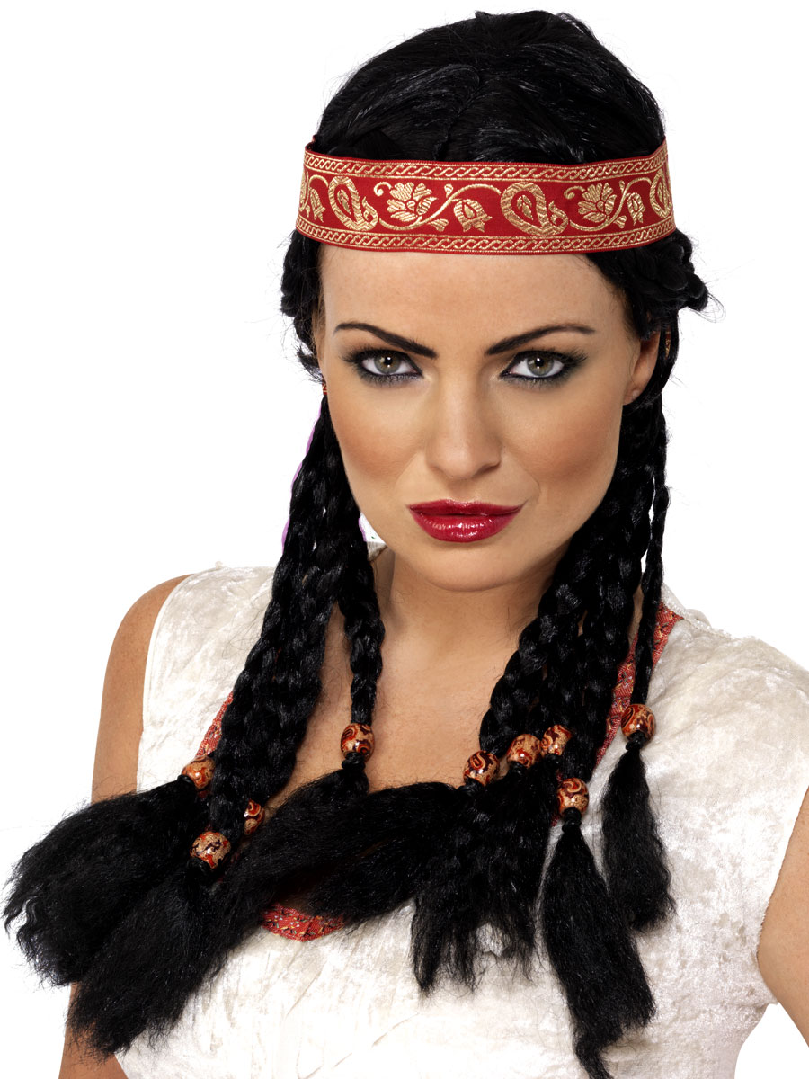 Perruque Indiens Pocahontas perruque noir