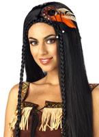 Princesse indienne sexy Black perruque Perruque Indiens