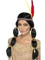 Perruque Indiens Mesdames noir perruque indien