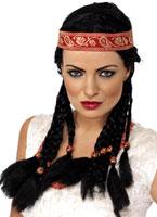 Pocahontas perruque noir Perruque Indiens