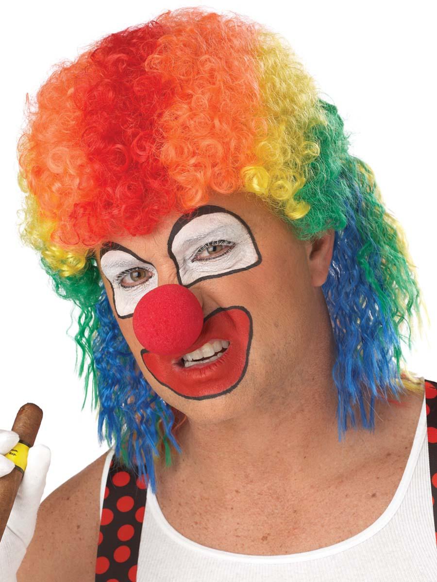 Perruques Homme Perruque de clown mulet Multi couleur