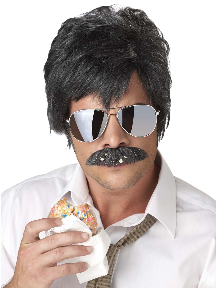 Perruques Homme Moustache et perruque détective ace
