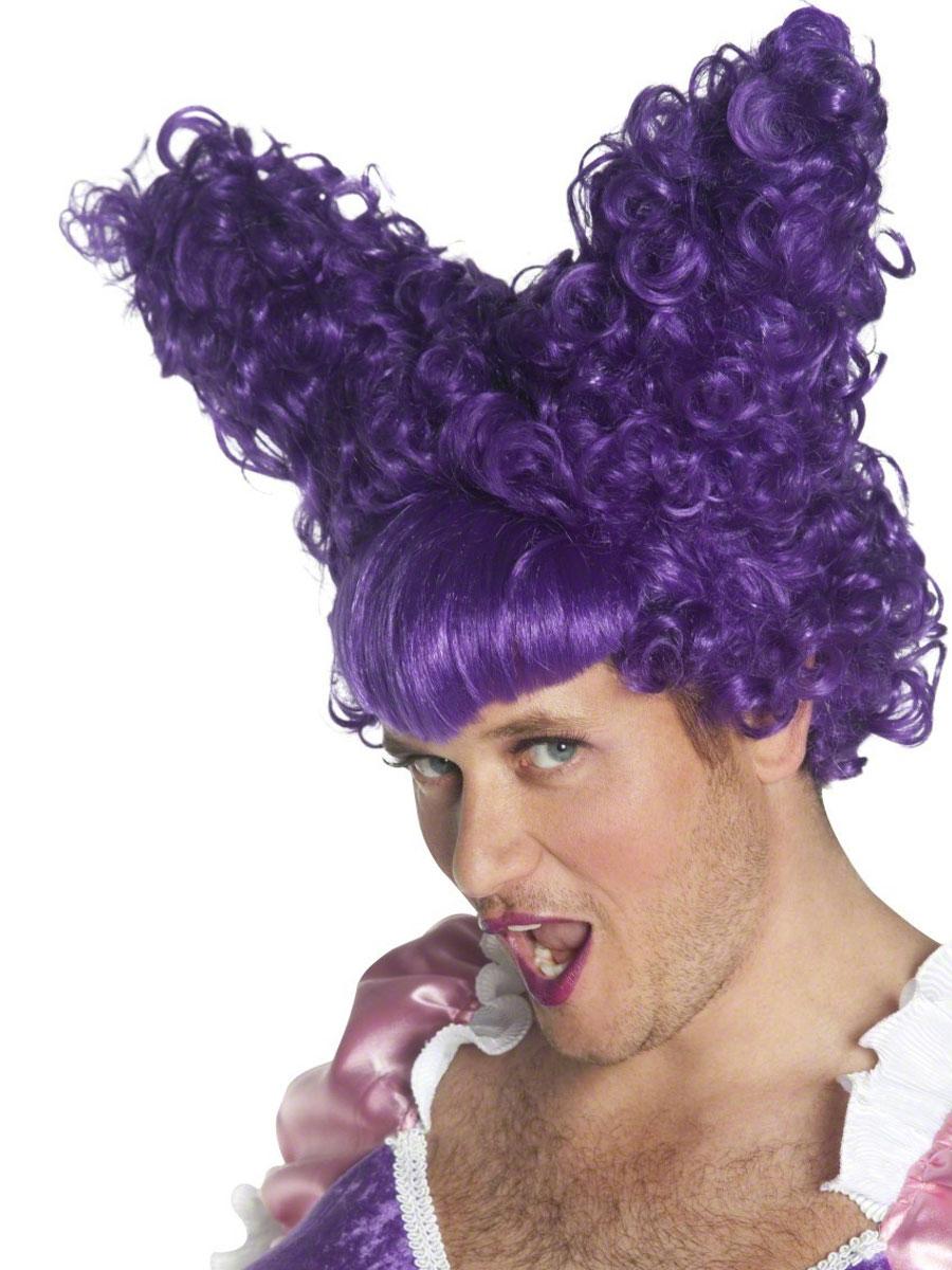 Perruques Homme Laide s?ur perruque violet