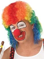 Perruque de clown mulet Multi couleur Perruques Homme