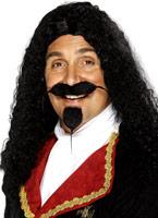 Mousquetaires perruque noire Perruques Homme