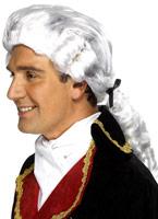 Cour Gents perruque en Nylon blanc Perruques Homme