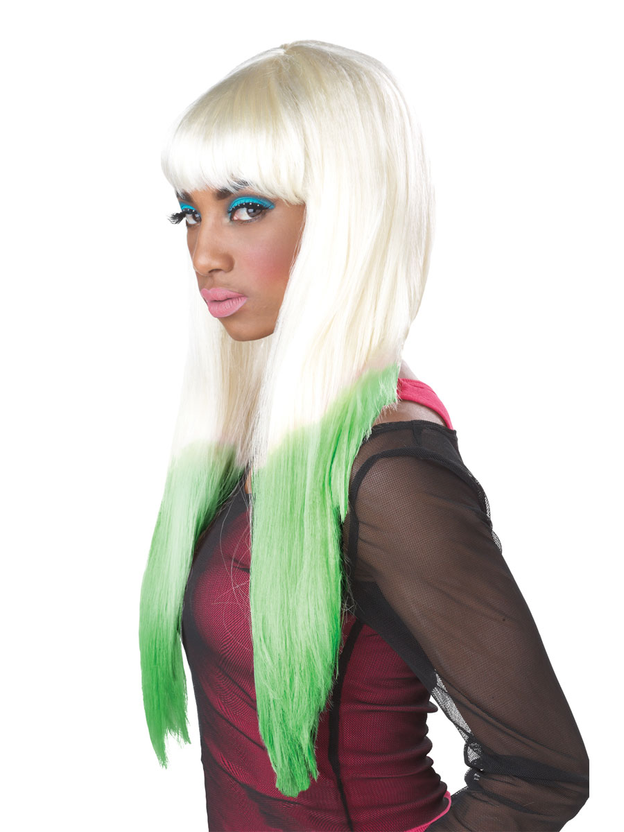 Perruque Star de la Pop Nicki Minaj couleur plongé perruque