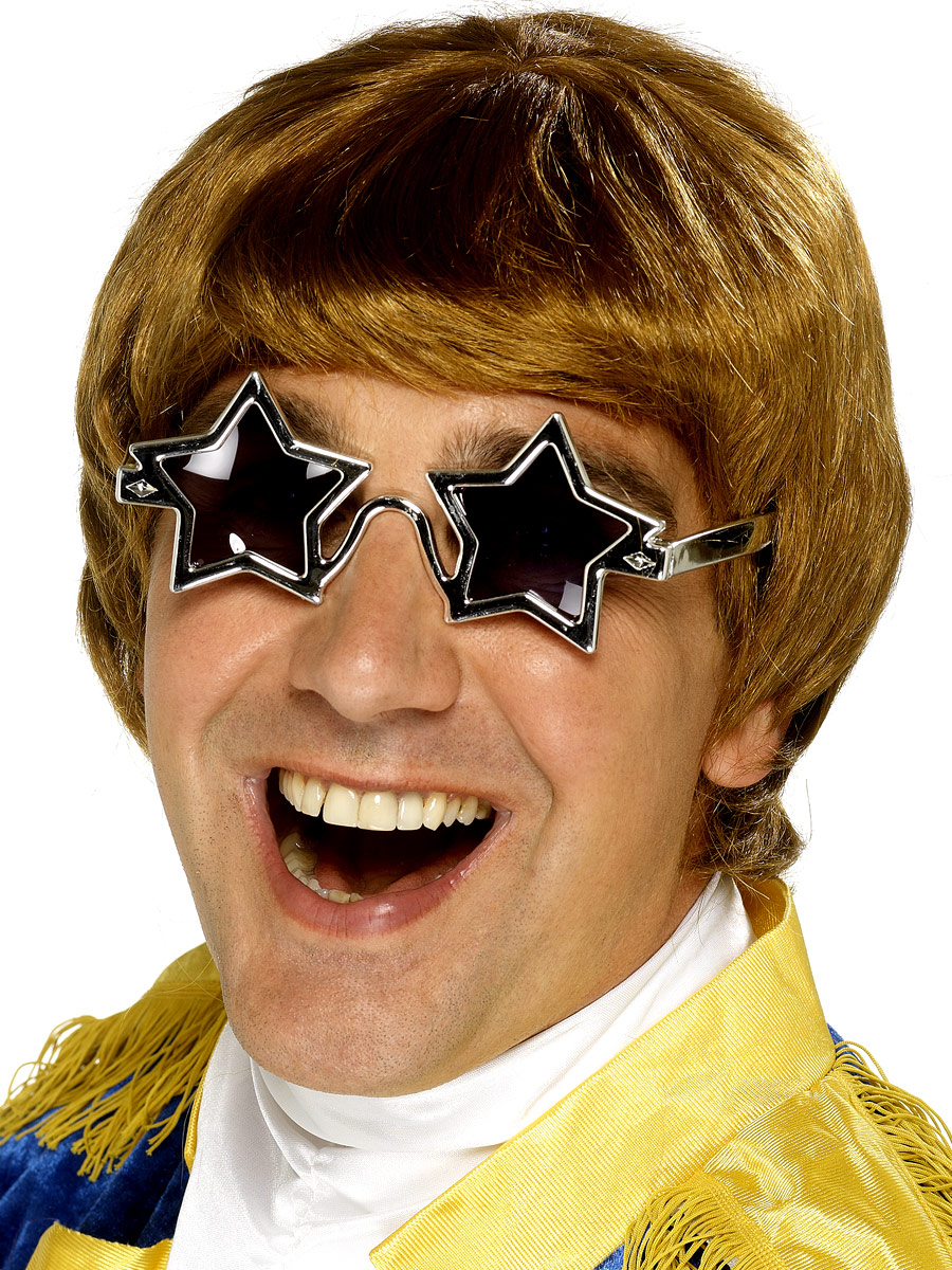 Perruque Star de la Pop Set de Elton