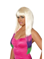 Nicki Minaj couleur plongé perruque Perruque Star de la Pop