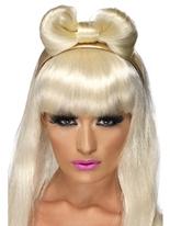 Danse Diva Hair Bow Perruque Star de la Pop